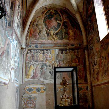 Beautiful historic paintings/murials in an Italian Church.