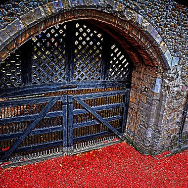 Traitors gate / doors where prisoners were taken through to be imprisoned in the Tower of London.
