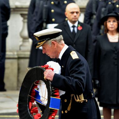 Prince Charles paying his respects on Remembrance Day 2014.