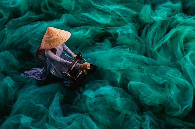 Sewing Fishing Net by sharonwan - Anything People Photo Contest
