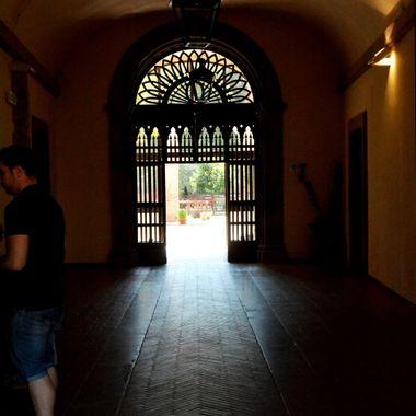 Dark Corridor in Spoleto Italy.