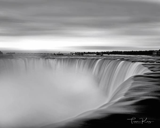 Niagara Falls Rushing Water by tonyahurseyboyd - The Water In Black And White Photo Contest