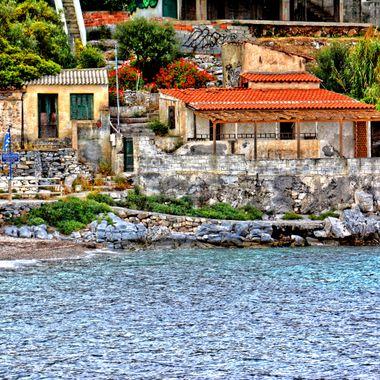 Buildings in the place called Agios Paraskevi on Samos Island.