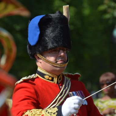 The Bandmaster of the Summer Fete band.