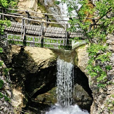 I took this photo when me and family visited Bulgaria, in the year 2014. This photo was taken at the waterfall of the Plakova Monastery.
