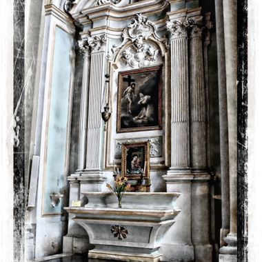 A very beautifully ornate alcove in an Italian Church.