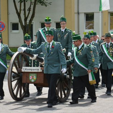 The annual shooting club celebration called a Schützenfest in Sennelager Germany.