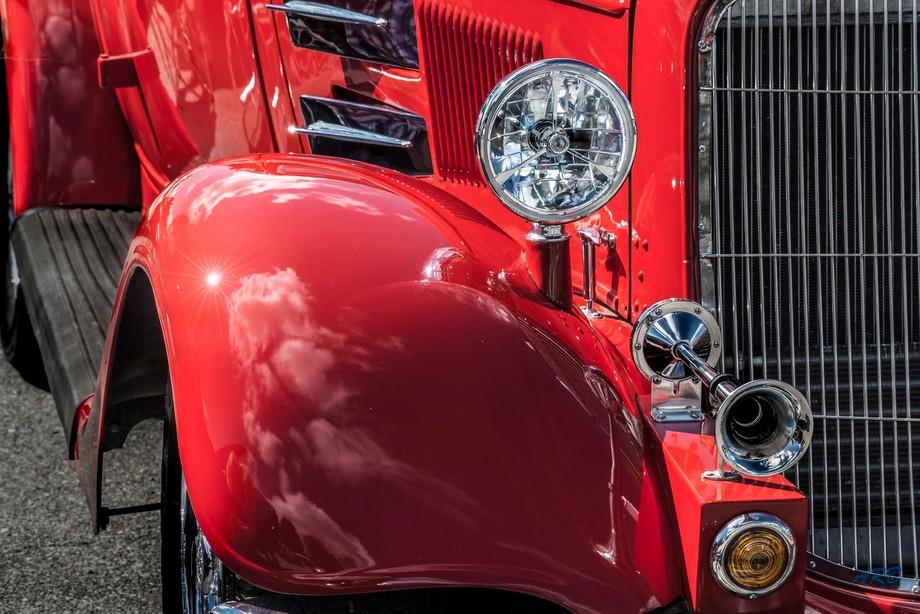 Red Car Sun