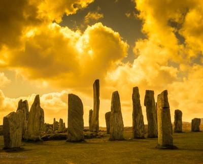 Standing Stones at Callnish. Lewis. Scotland