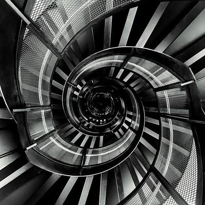 Spiraling inwards and up