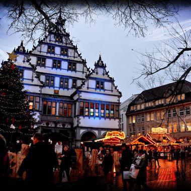 Paderborn Town Hall & Xmas Market.