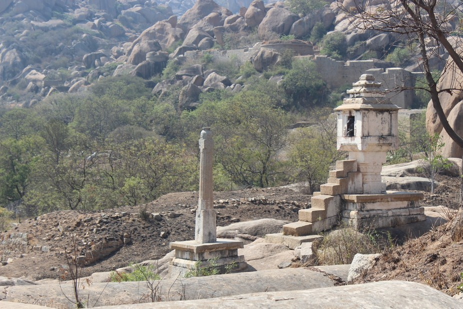 It is located in the Fort of Chitradurga, famously known as Ontikallu Basava. Entire structure is...