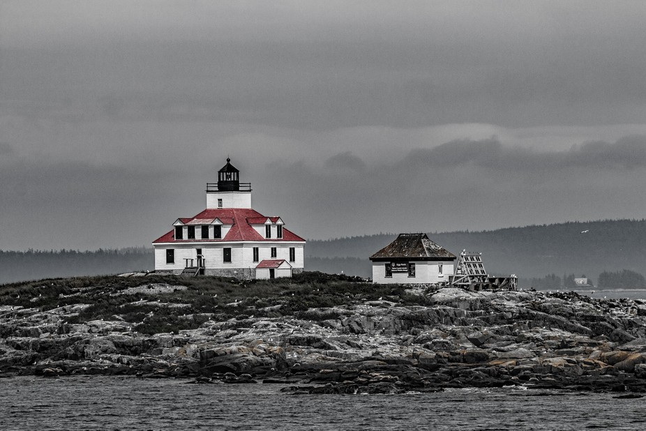 lighthouse off of Bar Harbor Maine