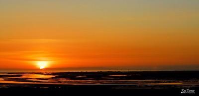 Sunset behind the Isle of Man