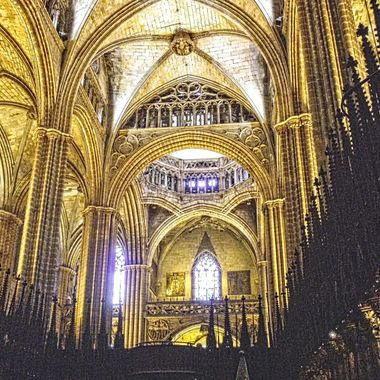 I took this photo when we were in Barcelona, Spain in the year 2010. This photo was taken in a Cathedral, in the city of Barcelona.