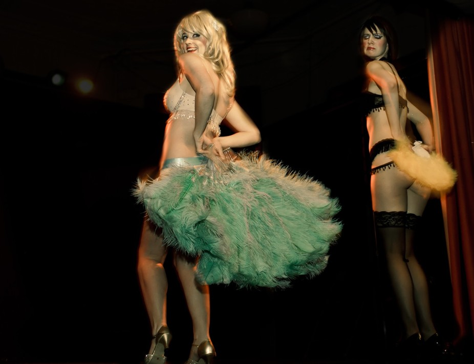 Live burlesque performance.