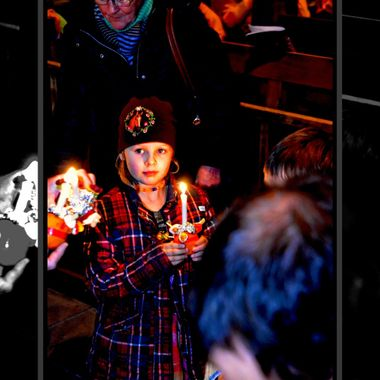 The Xmas Christingle service takes place annually in Paderborn Germany.