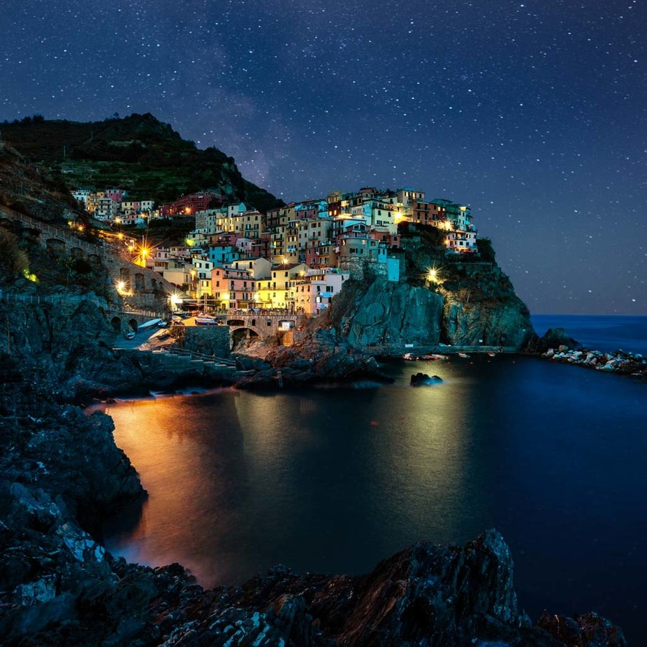 Manarola Night by Jae_atWitsEnd - Covers Photo Contest Vol 40