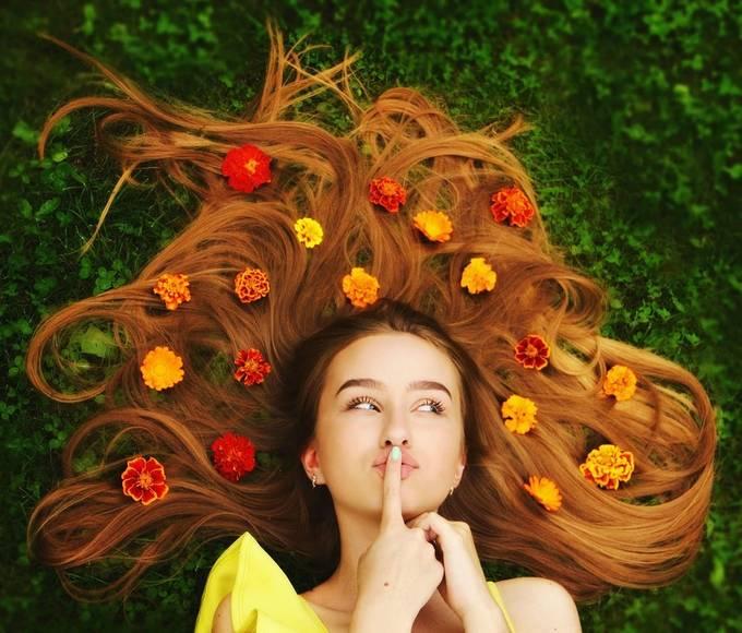 Flower girl by daliaa - The Fluid Self Photo Contest