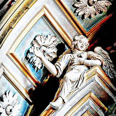 A beautiful carved angel in an Italian Church.