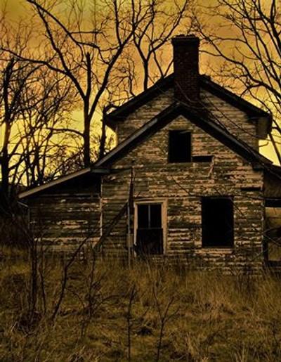 Spooky old farmhouse