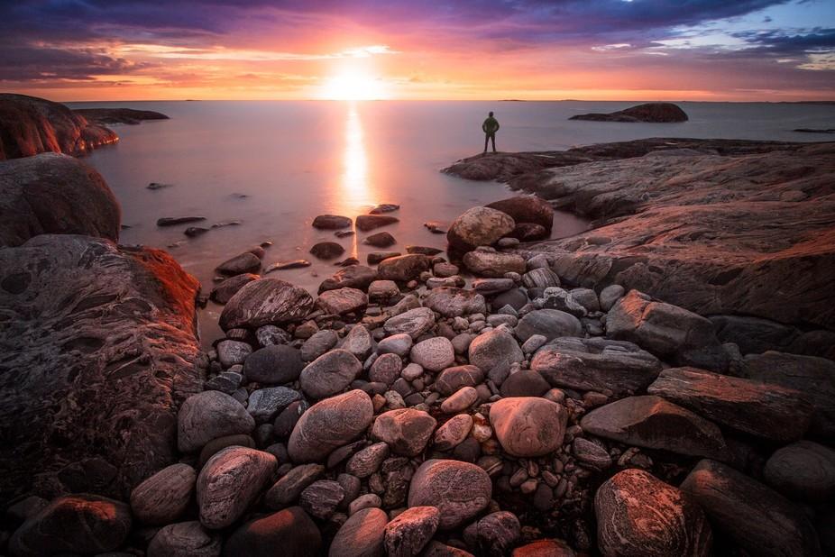 Long exposure sunset. Hönö, Sweden.