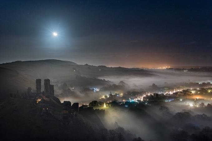 Corfe Castle Mist by ollietaylorphotography - The Moonlight Photo Contest