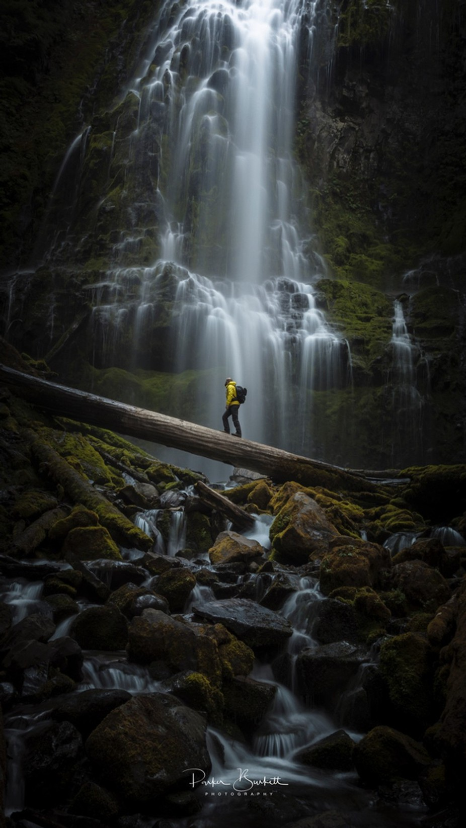 We are but a tiny part of this earth.... by sethburkett - People And Waterfalls Photo Contest