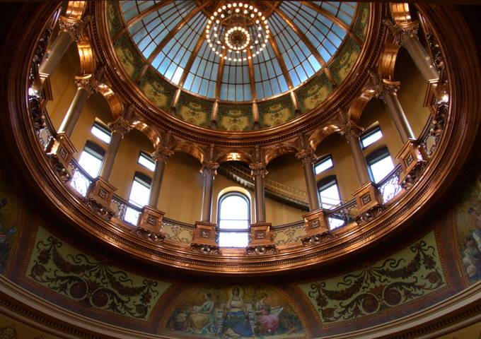 Capital dome by kathyzeckser - Ceilings Photo Contest