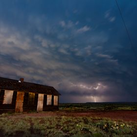 Found an abandoned house while following this super cell through New Mexico
