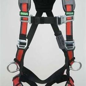 http://cleancoasttech.com/cct-products/safety/fall-protection/10105889.html EVOTECH® Arc Flash Full Body Harness, BACK STEEL D-ring, Quick-Conne...