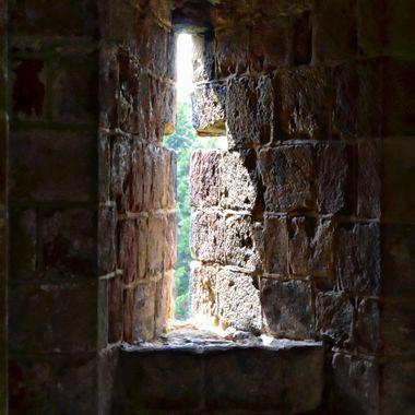 An Archers firing point in Skipton Castle.