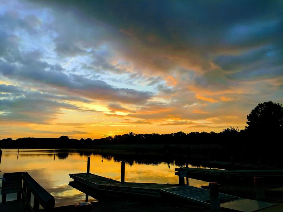 Taken this morning at Blythe Landing in Huntersville, NC...Lake Norman is the beautiful backdrop...