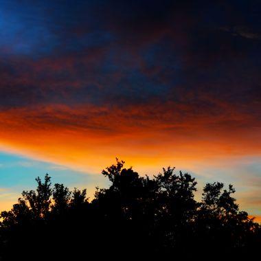 Sunset 061617 backyard
