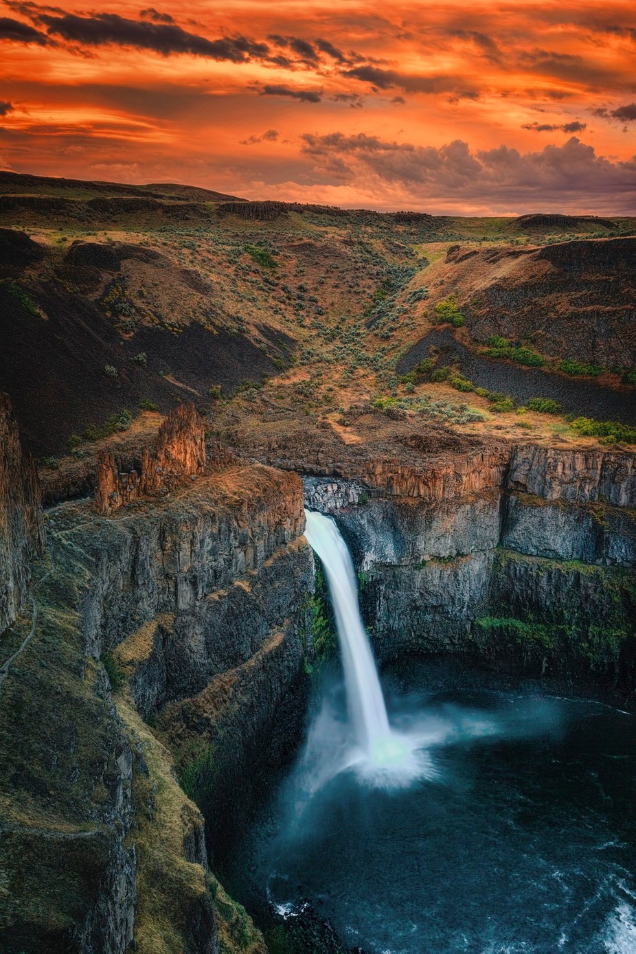 Palouse Falls at Sunset by brianadamson - Long Exposure In Nature Photo Contest