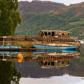 """Abandoned"" boats on Loch Ness, Highland Scotland  Canon 1100D + 55-250mm"