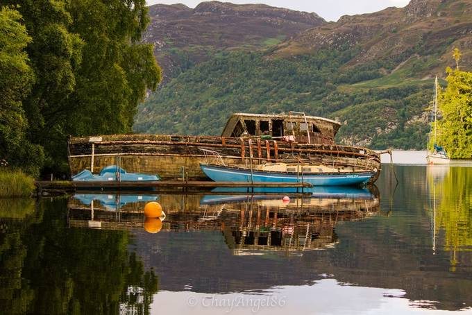Boat reflections by Chayangel86 - Ships And Boats Photo Contest