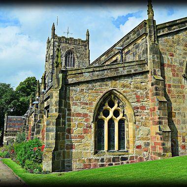 End view of Skipton church.