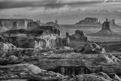 Hunts Mesa view of Monument Valley