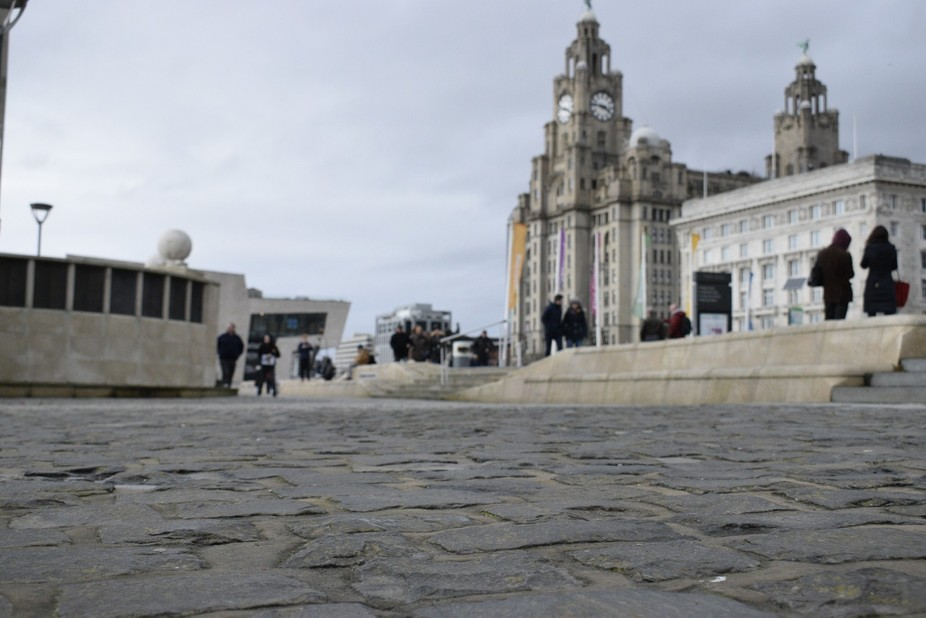 Low view point of the liver buildings
