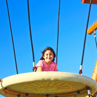 I took this photo when we took the children to the park, at Long Bach, Iskele, Cyprus, in the year 2014. Our cousin Mavi was playing at the park when I took this photo.