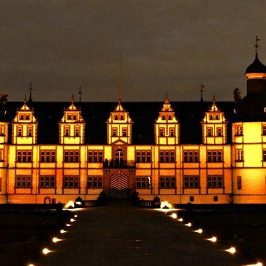 Castle at Schloss Neuhaus at Night.