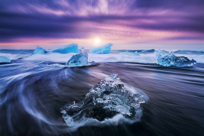 Jökulsárlón Ice Beach by alex_lauterbach - The Ocean Photo Contest