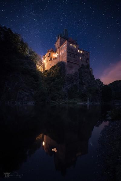 Castle Kriebstein under the stars