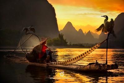 Sundown on Li River