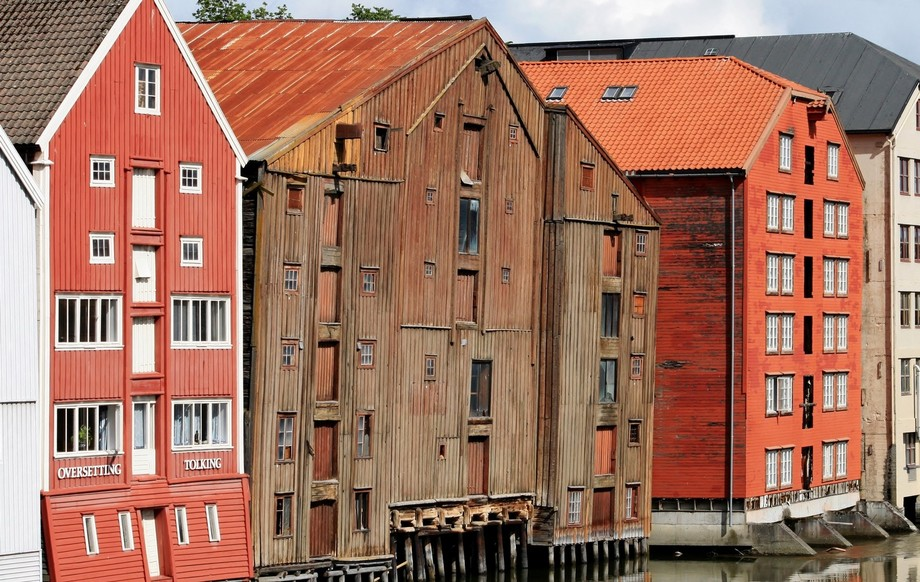 Old and new in Trondheim/Norway