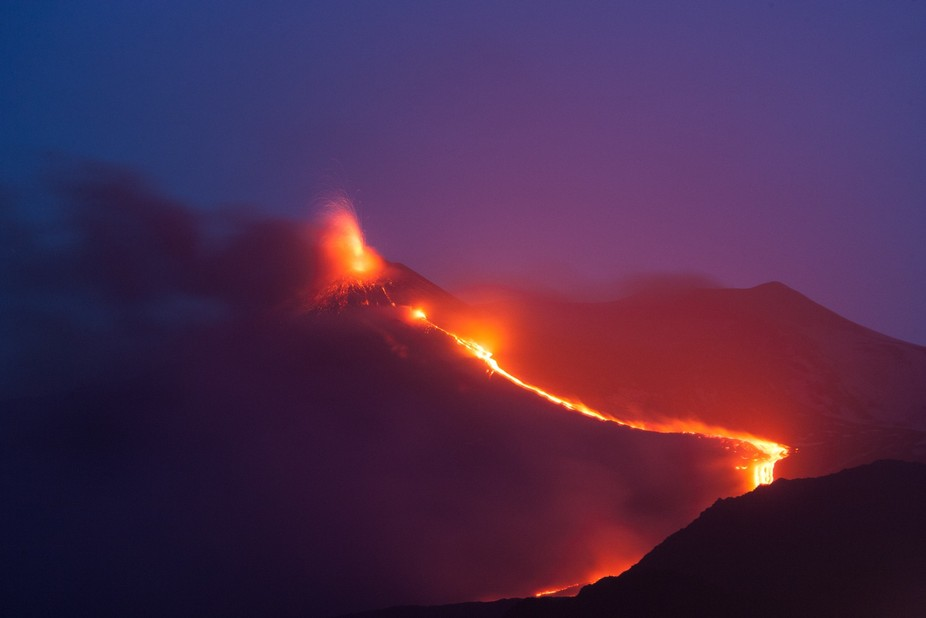 We arrived at our B/B to find and hear Mt Etna erupting. We had a balcony view from about 6 miles...
