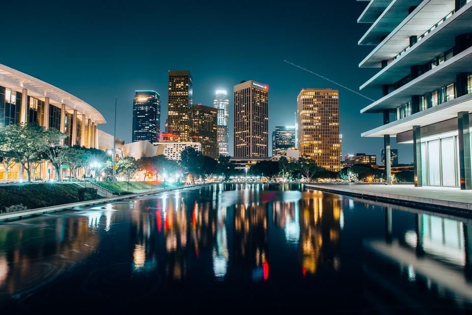 LA sky-night