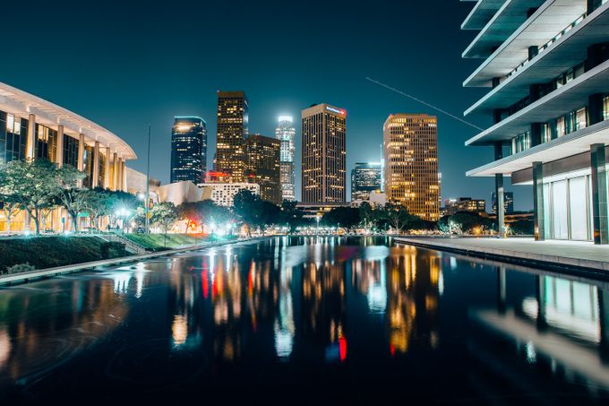 LA sky-night by guntherespinosa - My Favorite City Photo Contest