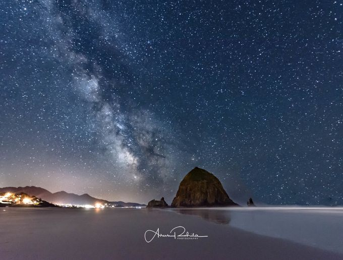 Milky Way over Haystack Rock by arunrohila - Nature And The Night Photo Contest